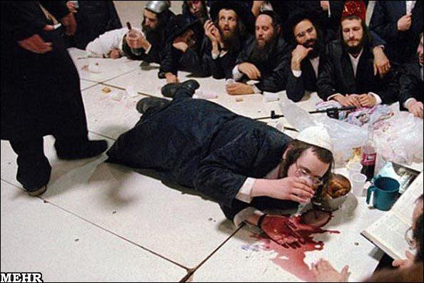 Jews celebrating Persian death